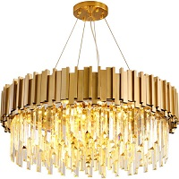 Gold crystal chandelier