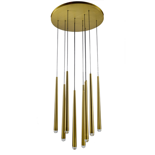Multi drop LED linear pendant light