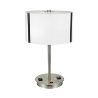 hotel style table lamp with outlets