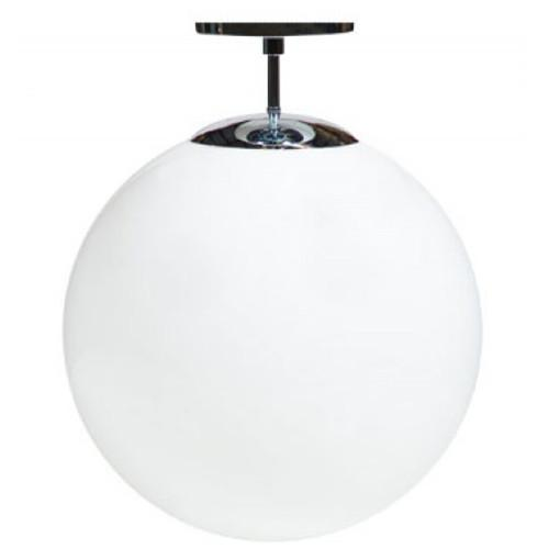 Glass globe ceiling light