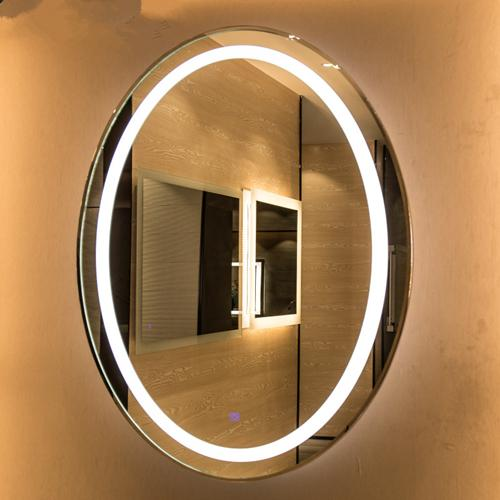 Oval led bathroom mirror