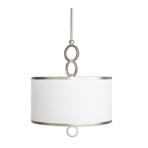 White drum pendant light