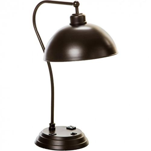 Desk lamp with outlet
