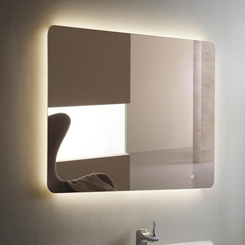 Backlit vanity mirror