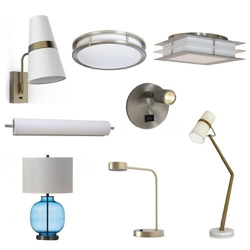 Hotel guest room lighting fixtures